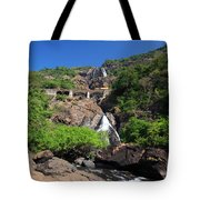 Train Crossing Dudhsagar Falls Tote Bag