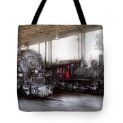 Train - Engine - 1218 - End Of The Line  Tote Bag