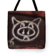 Train Kitty Tote Bag