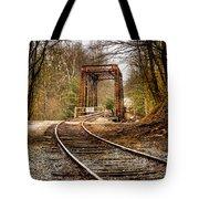 Train Memories Tote Bag by Debra and Dave Vanderlaan