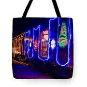 Train Of Lights Tote Bag