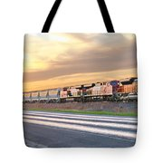 Train On The Tracks Tote Bag
