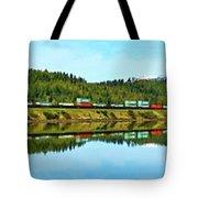 Train Reflecting Tote Bag