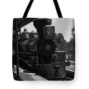 Train Ride Magic Kingdom Black And White Tote Bag