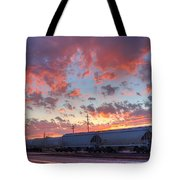 Train Setting Tote Bag