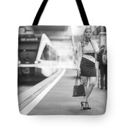Train Station - Waiting Tote Bag