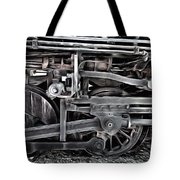 Train - The Wheels Are Turning  Tote Bag