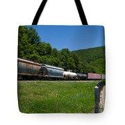 Train Watching At The Horseshoe Curve Altoona Pennsylvania Tote Bag