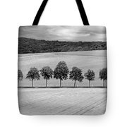 Train With A View Bw Tote Bag