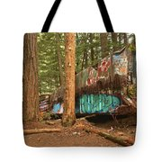 Train Wreck Canvas Among The Trees Tote Bag