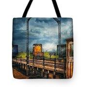 Train - Yard - On The Turntable Tote Bag