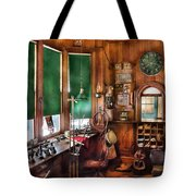 Train - Yard - The Stationmasters Office  Tote Bag