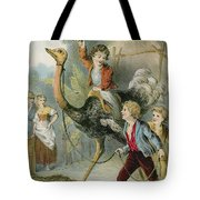 Training The Ostrich Tote Bag
