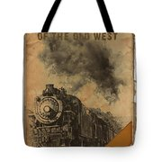 Trains Of The Old West Tote Bag