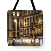 Tram Night Tote Bag