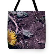 Trampled Sunflower Tote Bag