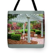 Tranquil Courtyard Tote Bag
