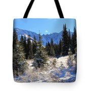 Tranquil Mountain Scene Tote Bag
