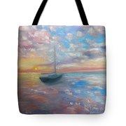 Tranquil Ocean Sunset Tote Bag