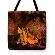 Tranquility Butterfly Collage Art  Tote Bag