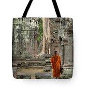 Tranquility In Angkor Wat Cambodia Tote Bag