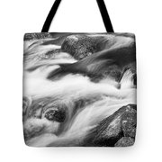 Tranquility In Black And White Tote Bag