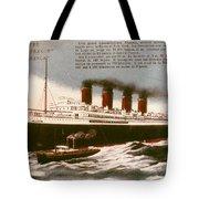 Transatlantic Liner, 1912 Tote Bag