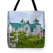Transfiguration Of Our Lord Russian Orthodox Church In Ninilchik-ak Tote Bag