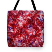 Transitions With White Red And Violet Tote Bag