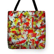 Transitions With Yellow Brown And Red  Tote Bag