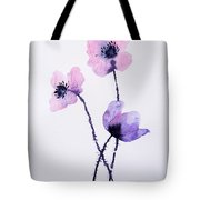 Translucent Poppies Tote Bag