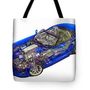 Transparent Car Concept Made In 3d Graphics 1 Tote Bag
