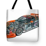 Transparent Car Concept Made In 3d Graphics 10  Tote Bag