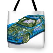 Transparent Car Concept Made In 3d Graphics 11 Tote Bag