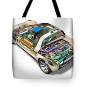 Transparent Car Concept Made In 3d Graphics 2 Tote Bag
