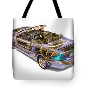 Transparent Car Concept Made In 3d Graphics 6 Tote Bag