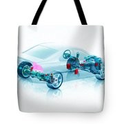 Transparent Car Concept Made In 3d Graphics 7 Tote Bag