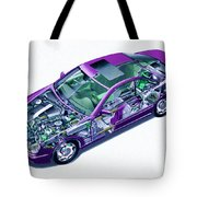 Transparent Car Concept Made In 3d Graphics 8 Tote Bag