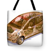 Transparent Car Concept Made In 3d Graphics 9 Tote Bag