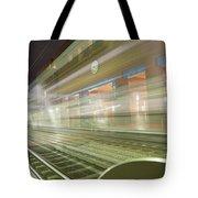Transparent Trains Tote Bag