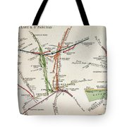 Transport Map Of London Tote Bag