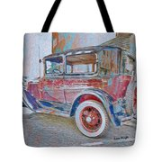 Transportation Grunge Tote Bag