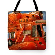 Transportation - Helicopter - Coast Guard Helicopter Tote Bag