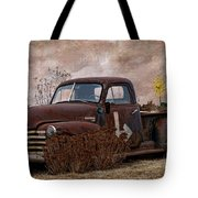 Transportation - Rusted Chevrolet 3100 Pickup Tote Bag