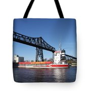 Transporter Bridge Over Canal Rendsburg Tote Bag
