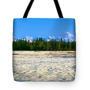 Trapper Creek And Mount Mckinley, Alaska Tote Bag