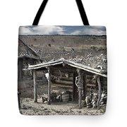 Trapper Dan's Log Cabins Tote Bag