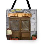 Trattoria Del Vino Buono Tote Bag