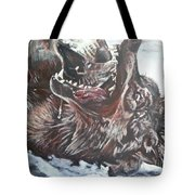 Trauma With Wolf Tote Bag