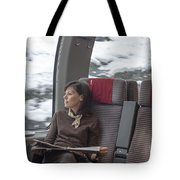 Travel In Train Tote Bag